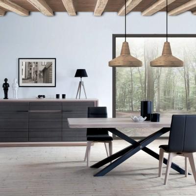 salle-a-manger-zen-ateliers-de-langres-meubles-gibaud-table-plateau-bois-chêne-pied-metal