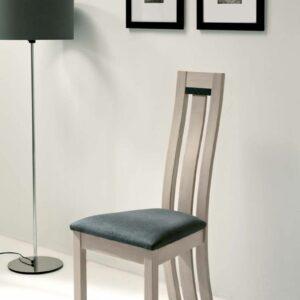 Chaise en chêne massif assise tissu – Ateliers de Langres – DEAUVIL