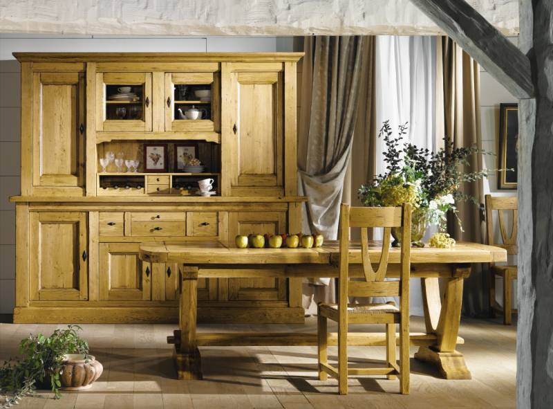 salle a manger nogent chene massif ateliers de langres. Black Bedroom Furniture Sets. Home Design Ideas