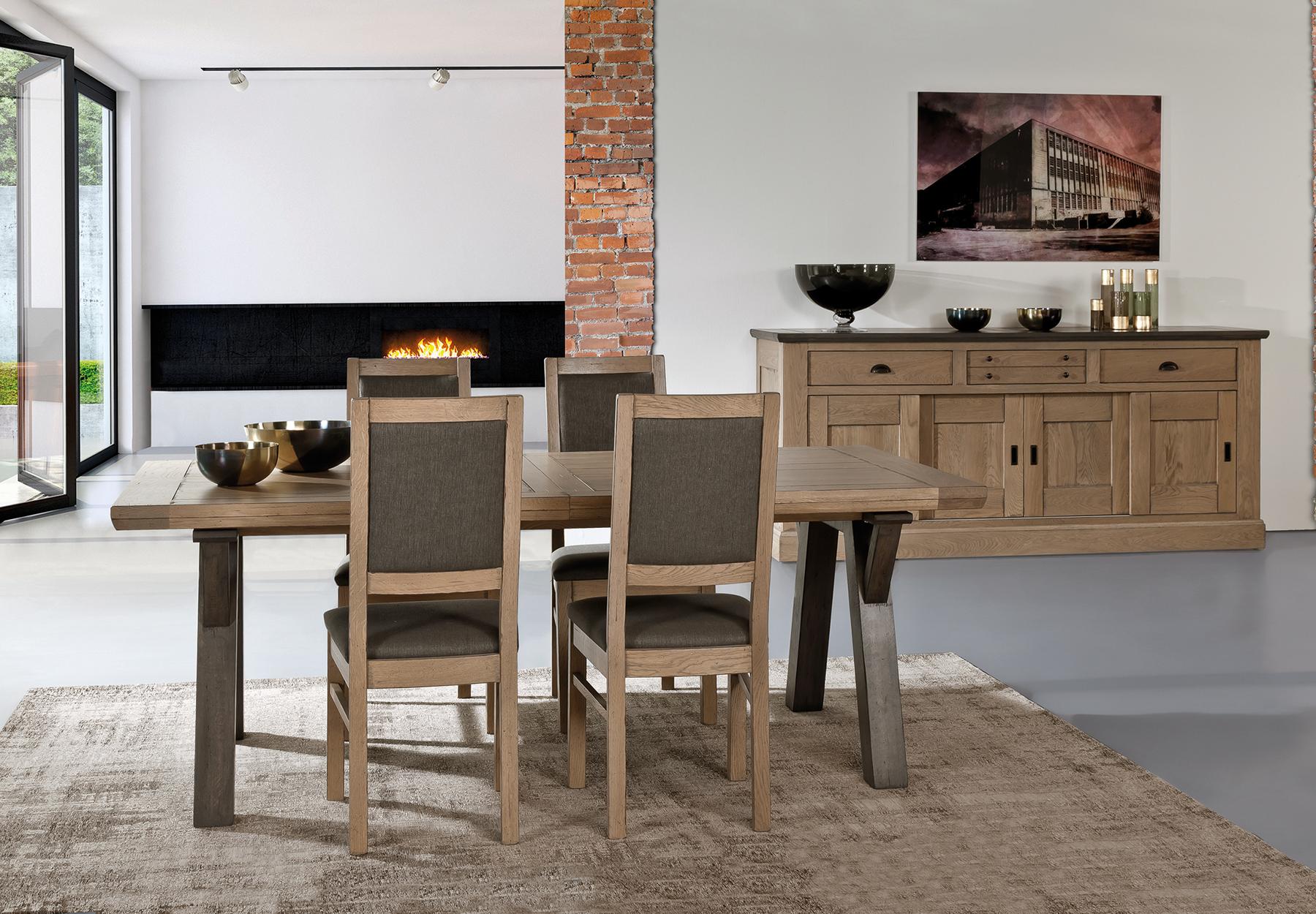 Salle a manger romance ateliers de langres meubles gibaud - Table salle a manger chene massif ...