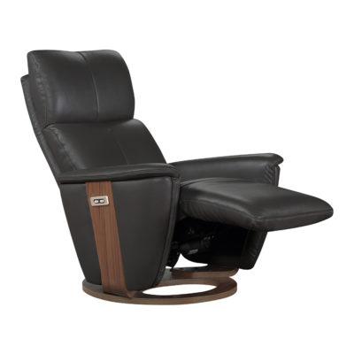 fauteuil electrique cuir gris