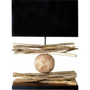 Lampe a poser en bois naturel modele MIKADO