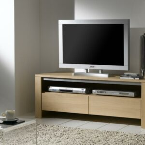 Meuble TV 1 tiroir 1 niche 100% chêne massif Ateliers de Langres – YUCCA