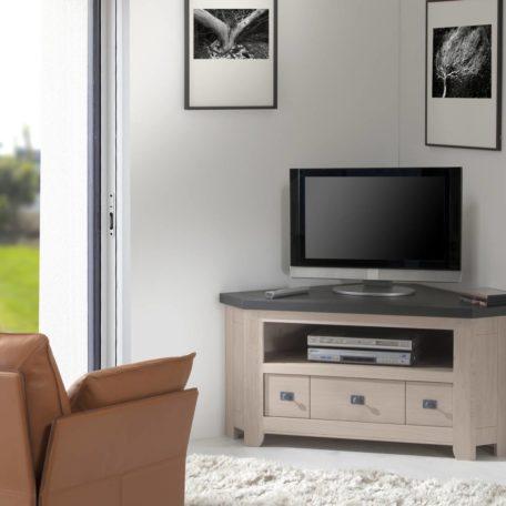meuble-tv-angle-bois-bi-teinte-chene