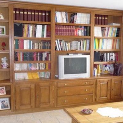 Bibliothèque sur-mesure 100% chêne massif