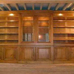 Bibliothèque murale sur-mesure 100% chêne massif