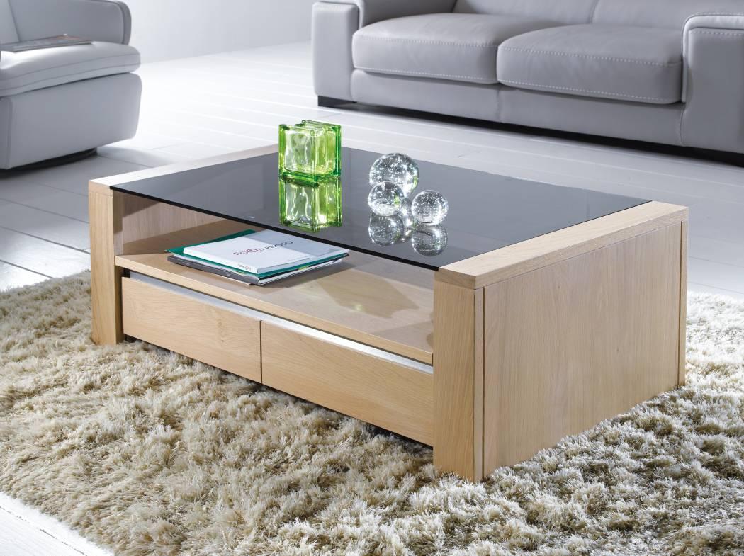 Table En Bois Chene Clair table-basse-chene-verre-yucca-ateliers-de-langres-qualite
