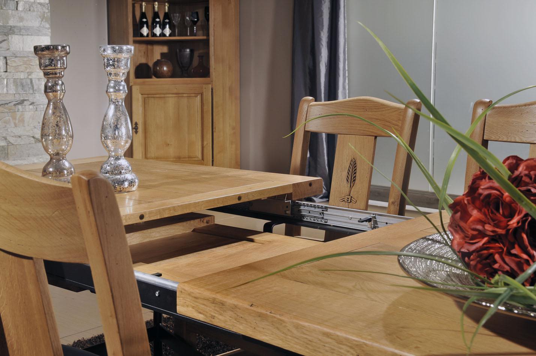 Salle à manger rustique 100% chêne massif- ARDÈCHE - Meubles Gibaud