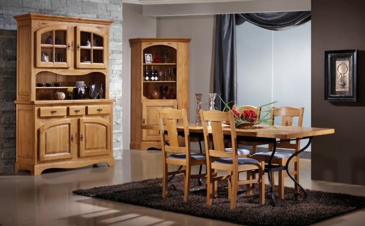 salle manger rustique 100 ch ne massif ard che meubles gibaud. Black Bedroom Furniture Sets. Home Design Ideas