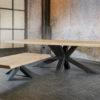 Table-salle-a-manger-table-basse-salon-nyls-design-pied-metal-industriel-plateau-epais-bois-chene-meubles-gibaud