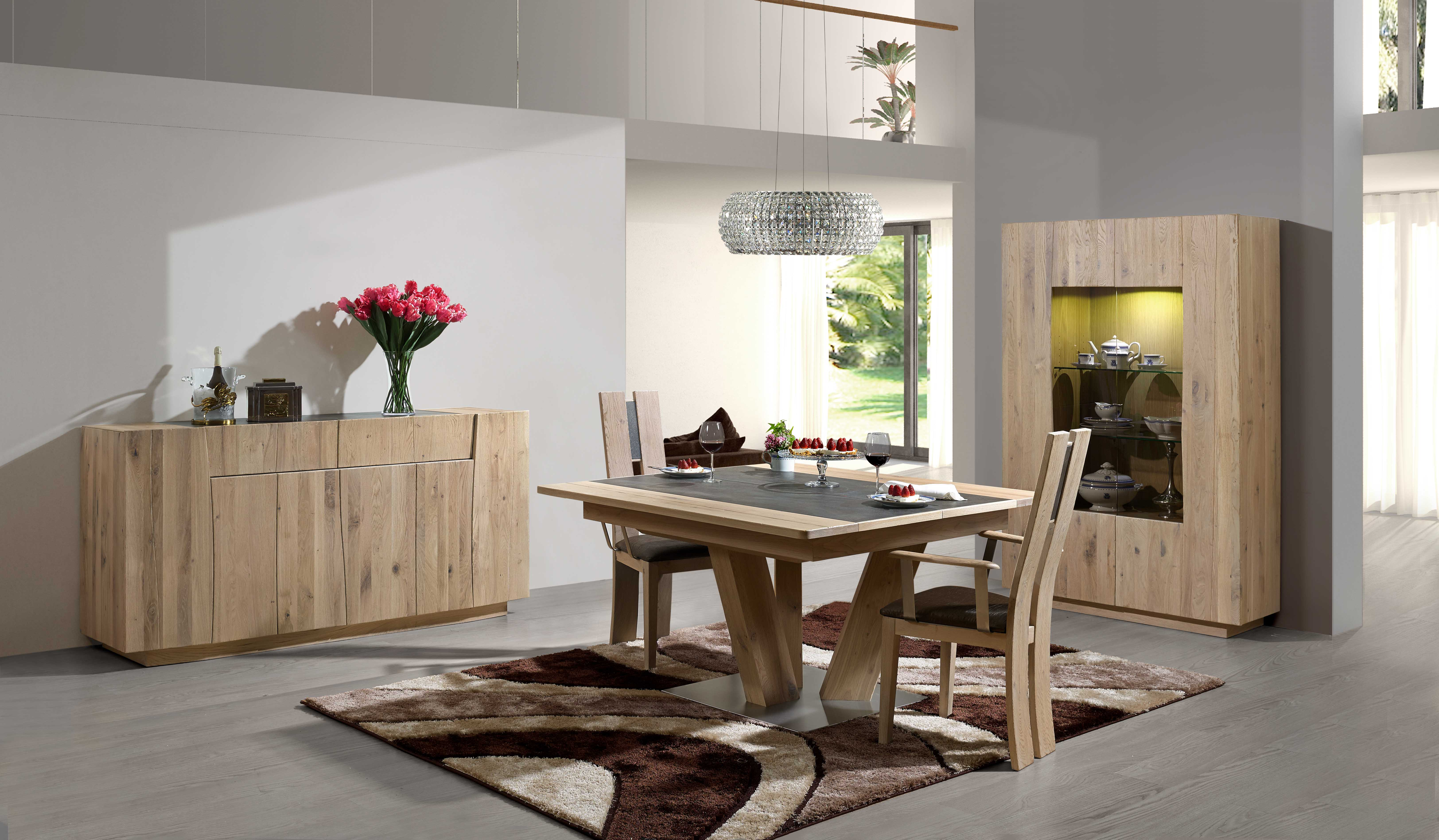 Table salle a manger chene massif occasion table salle a for Salle a manger contemporaine