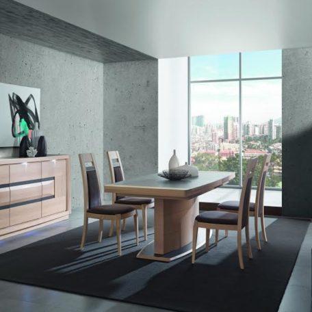 salle a manger meubles moderne design chene ceramique