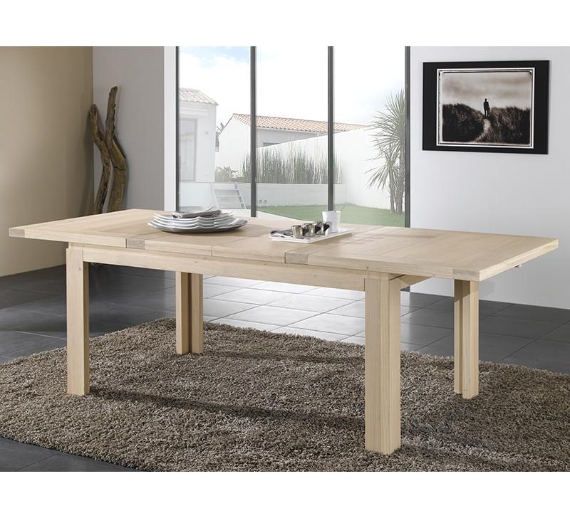 Table de salle a manger en chene table de salle manger for Salle manger chene massif