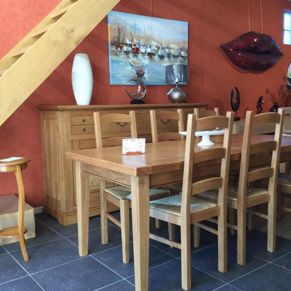 salle-manger-honfleur-bois-massif-chêne-meubles-Gibaud-le-Cateau-Nord-Cambrai-Douai-Valenciennes