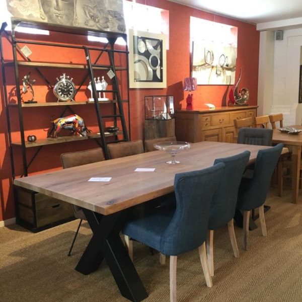 magasin-meubles-gibaud-cambresis-nord-table-country-plateau-bois-chene-pieds-metal