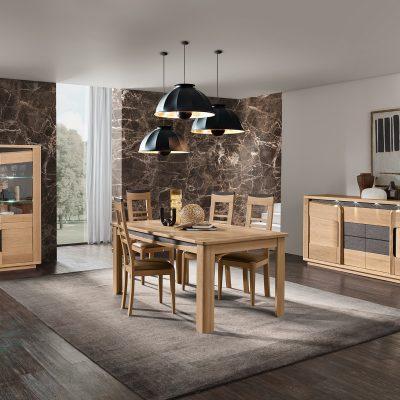 salle-a-manger-bella-bois-chêne-beige-cacio-meubles-Gibaud-le Cateau-cambresis-Nord-Cambrai-Douai-Valenciennes-lille-haut-de-france