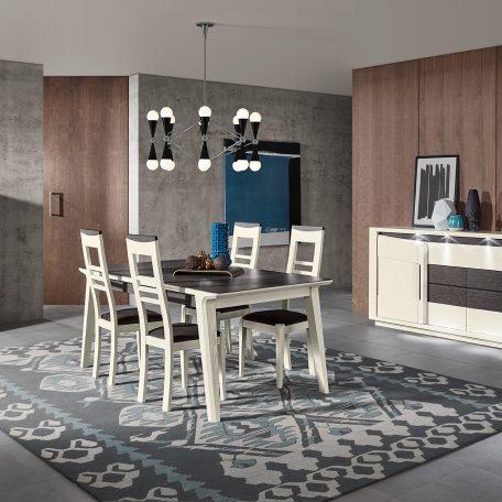 salle-a-manger-bella-bois-chêne-blanc-ceramique-noire-cacio-meubles-Gibaud-le Cateau-cambresis-Nord-Cambrai-Douai-Valenciennes-lille-haut-de-france