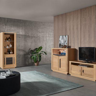 sejour-bella-bois-chêne-beige-cacio-meubles-Gibaud-le Cateau-cambresis-Nord-Cambrai-Douai-Valenciennes-lille-hauts-de-france