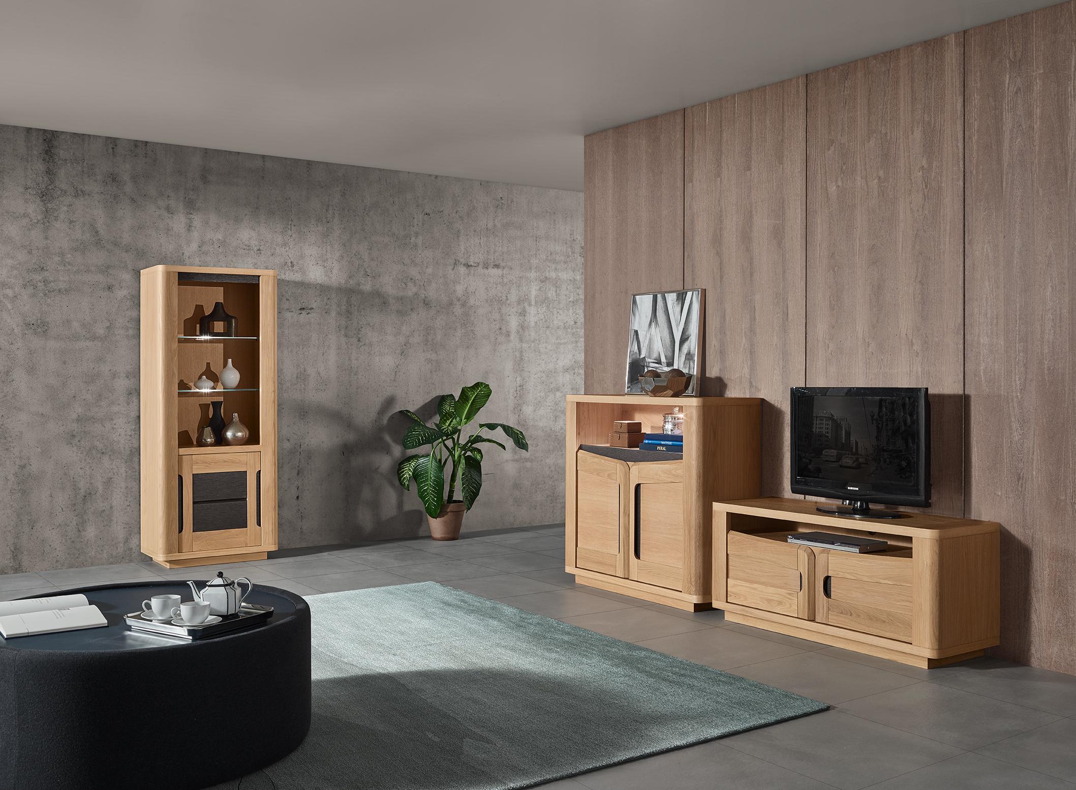 sejour bella bois ch ne beige c ramique cacio meubles. Black Bedroom Furniture Sets. Home Design Ideas