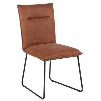chaise-cuir-camel-pieds-metal-casita-meubles-gibaud