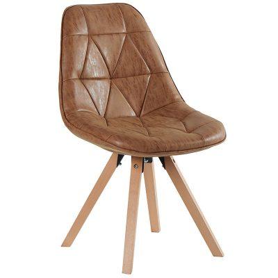 chaise-design-yate-tissus-camel-havane-pieds-bois-meubles-gibaud-cambresis