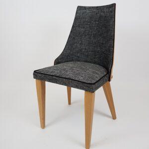 chaise tissu gris pieds bois chene