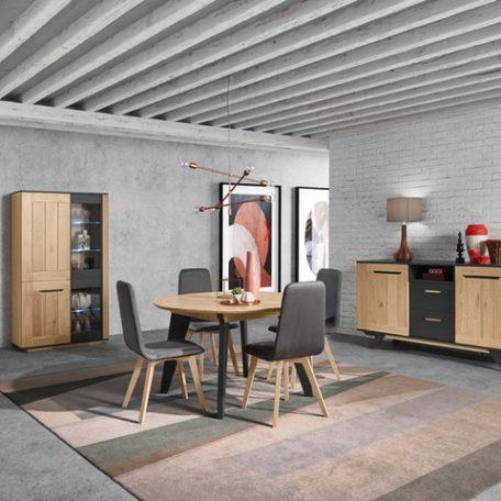 Salle-a-manger-contemporaine-moderne-design-Lucia-cacio-table-ronde-chene-massif-meuble-meubles-gibaud-nord