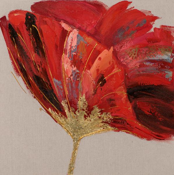 tableau peinture toile fleur tulipe rouge meubles gibaud. Black Bedroom Furniture Sets. Home Design Ideas