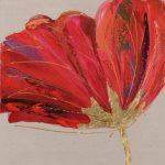 tableau-peinture-tulipe-rouge-or-fleur-deco-bois&deco-magasin-nord-meubles-gibaud-cateau-cambresis