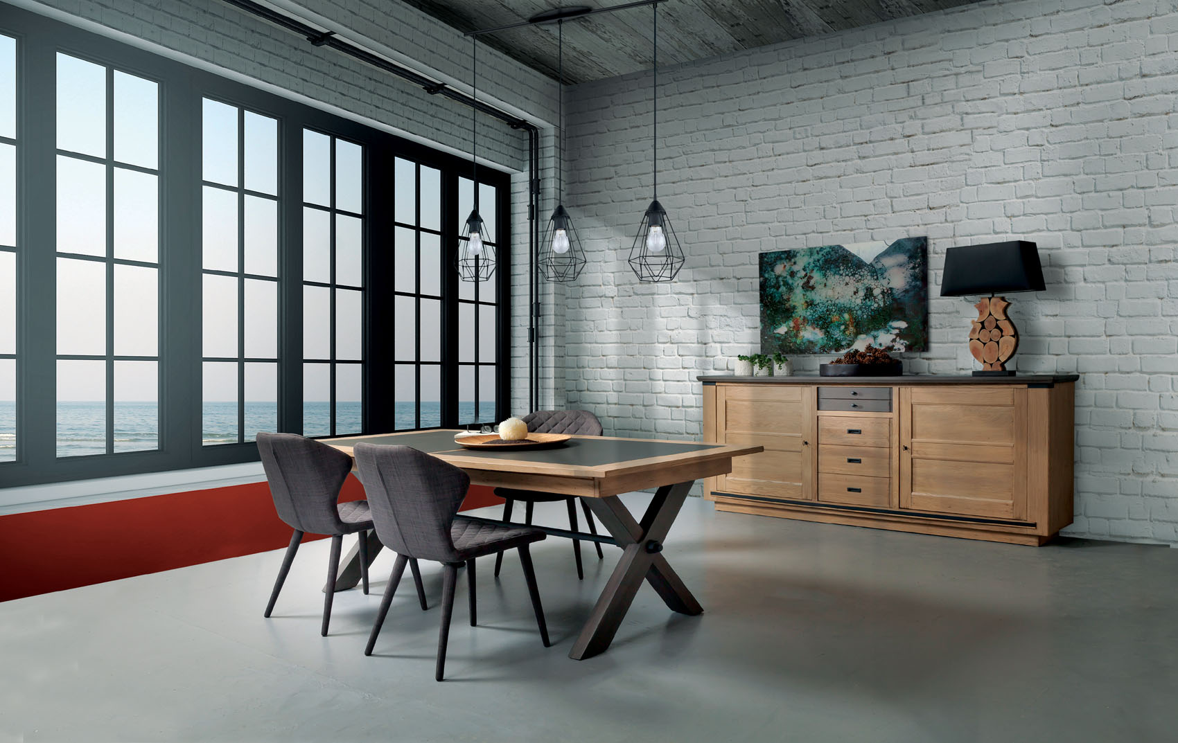 Meuble salle a manger magellan ateliers de langres meubles for Meuble salle a manger 1900