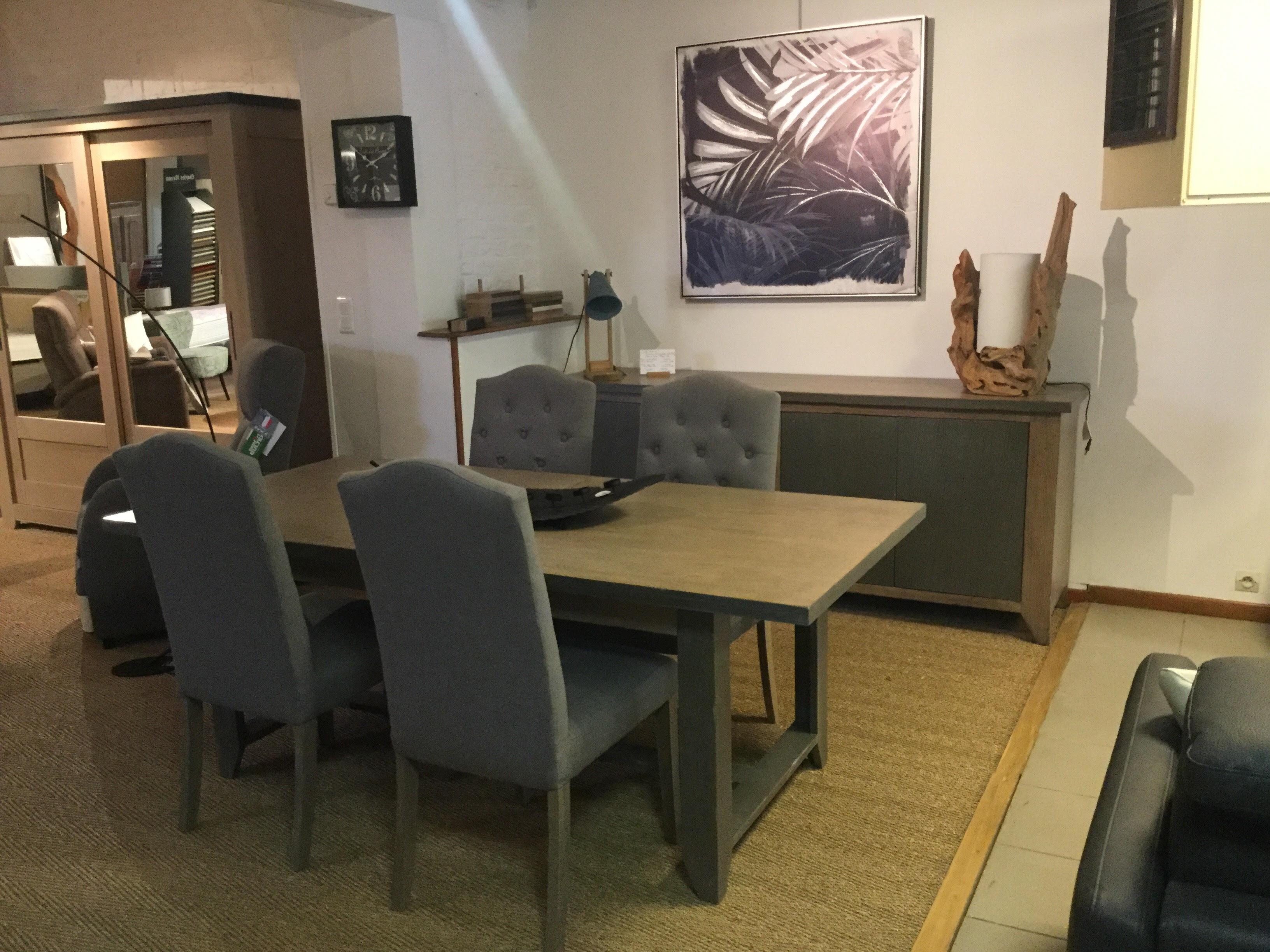 salle a manger industrielle magasin meubles gibaud salon. Black Bedroom Furniture Sets. Home Design Ideas