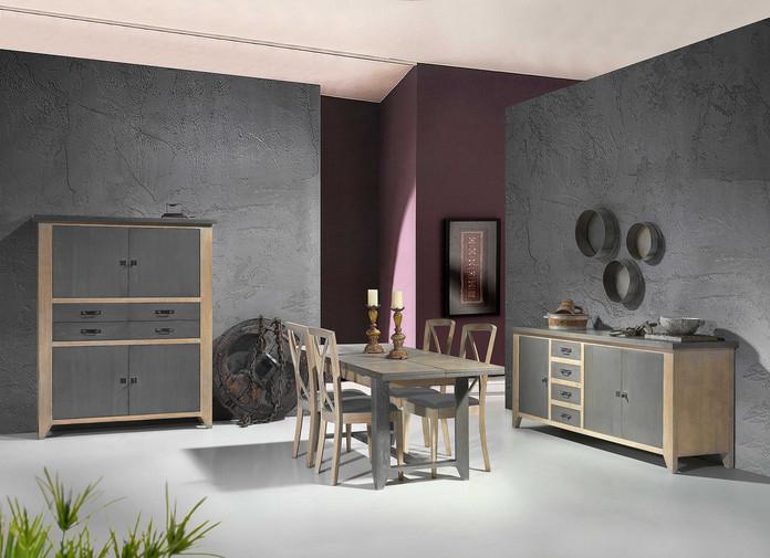 FIN DE SÉRIE / remise exceptionnelle sur la salle à manger en chêne de style industriel HENRI