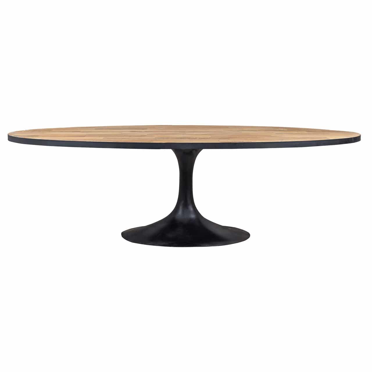 salle a manger industrielle bois metal table ovale meubles. Black Bedroom Furniture Sets. Home Design Ideas