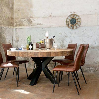 table-bodhi-pied-metal-etoile-noir-plateau-bois-epais-pin-design-richmond-interiors