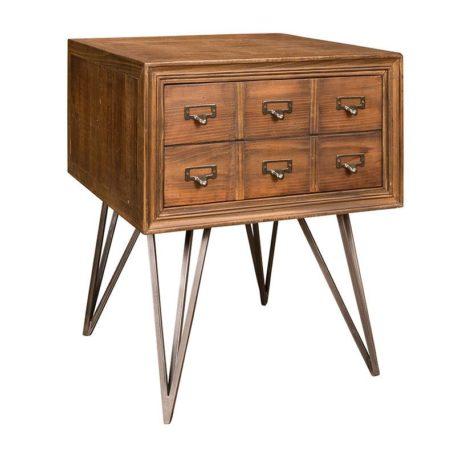 meuble-appoint-bois-metal-barclay-richmond-interiors