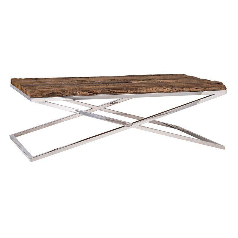 table basse salon richmond interiors kensington bois metal argent ambiance design