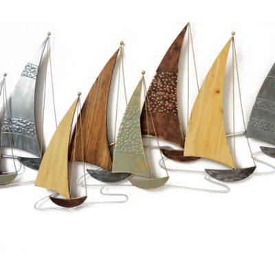 sculpture-decoration-murale-regate-bateaux-couleurs