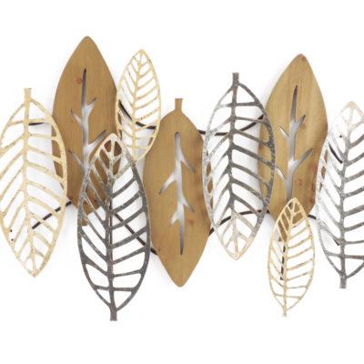 sculpture-murale-feuilles-metal-et-bois-decoration-interieur-deco