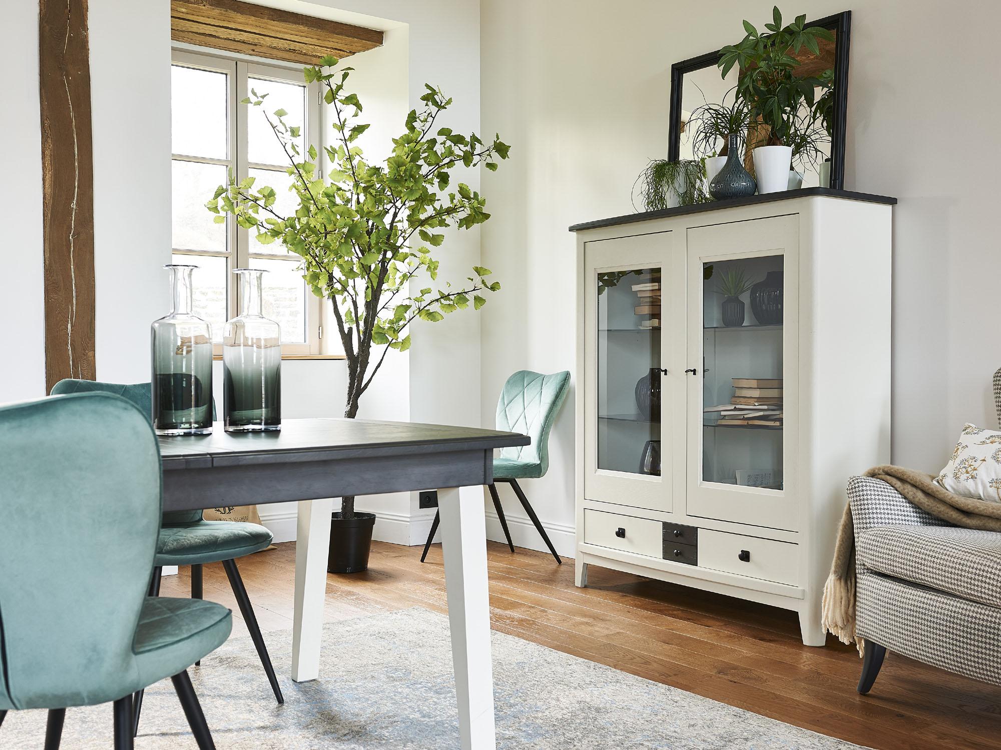 Salle à manger chêne massif table pieds bois Ateliers de ...