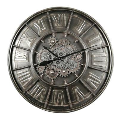 Horloge murale en métal ENGRENAGE ANTHRACITE