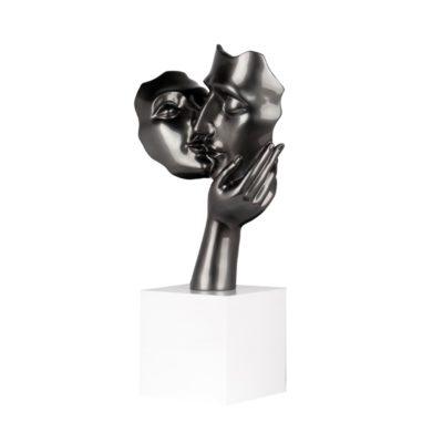 statue visage couple