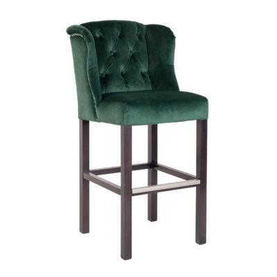 chaise haute de bar tissu vert