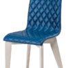 chaise tissu pieds droits chene blanc