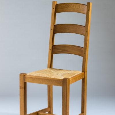 chaise rustique chene massif assise paille haut de gamme