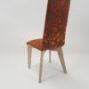 chaise confort motif tissu