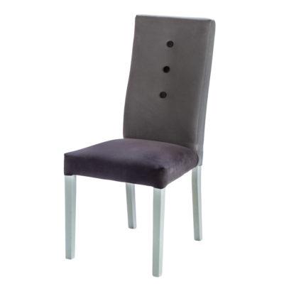 Chaise confortable tissu au choix, pieds en chêne – Lelièvre- YEMA