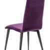 chaise tissu violet