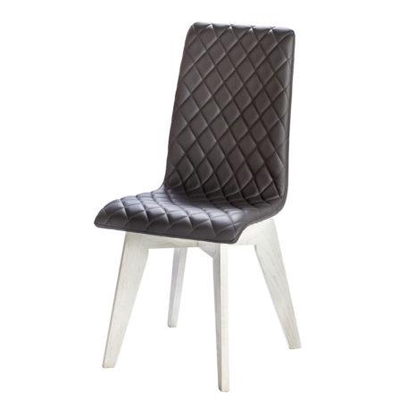 chaise design confot tissu matelasse pieds chene blancs
