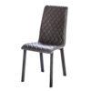 chaise design confot tissu matelasse pieds metal noir