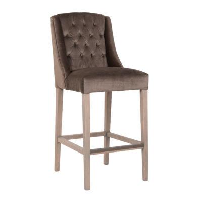 chaise haute haut de gamme tissu et bois